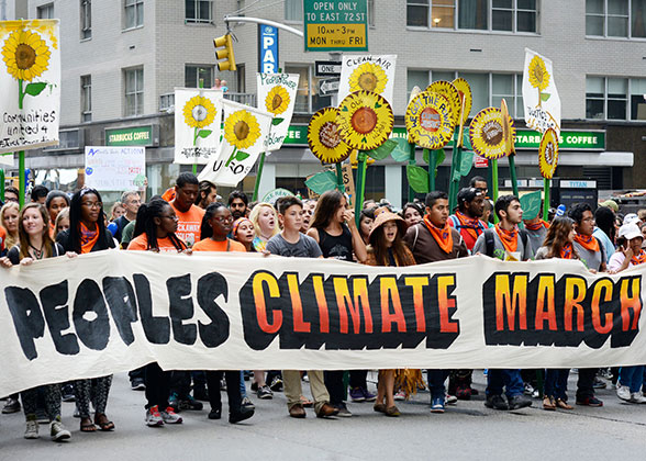 People's Climate March, New York City, 2014.