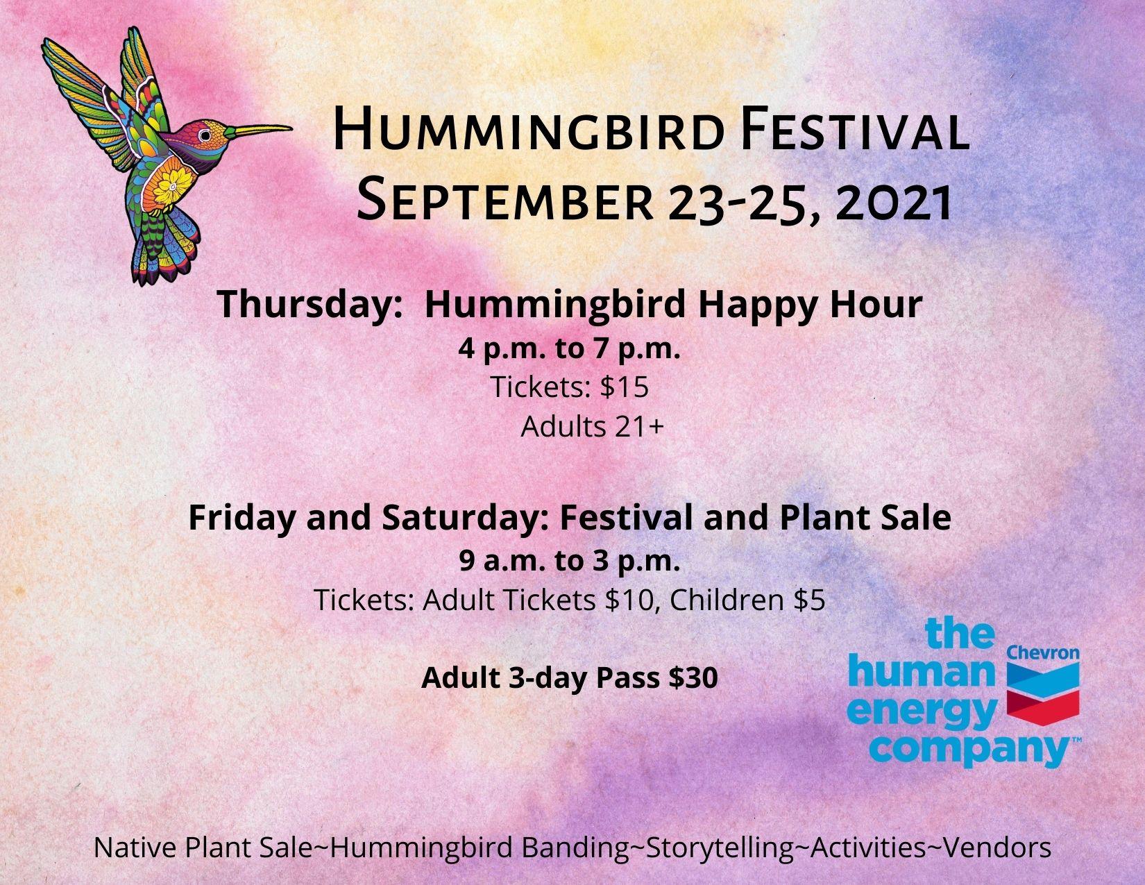 Hummingbird Migration Festival