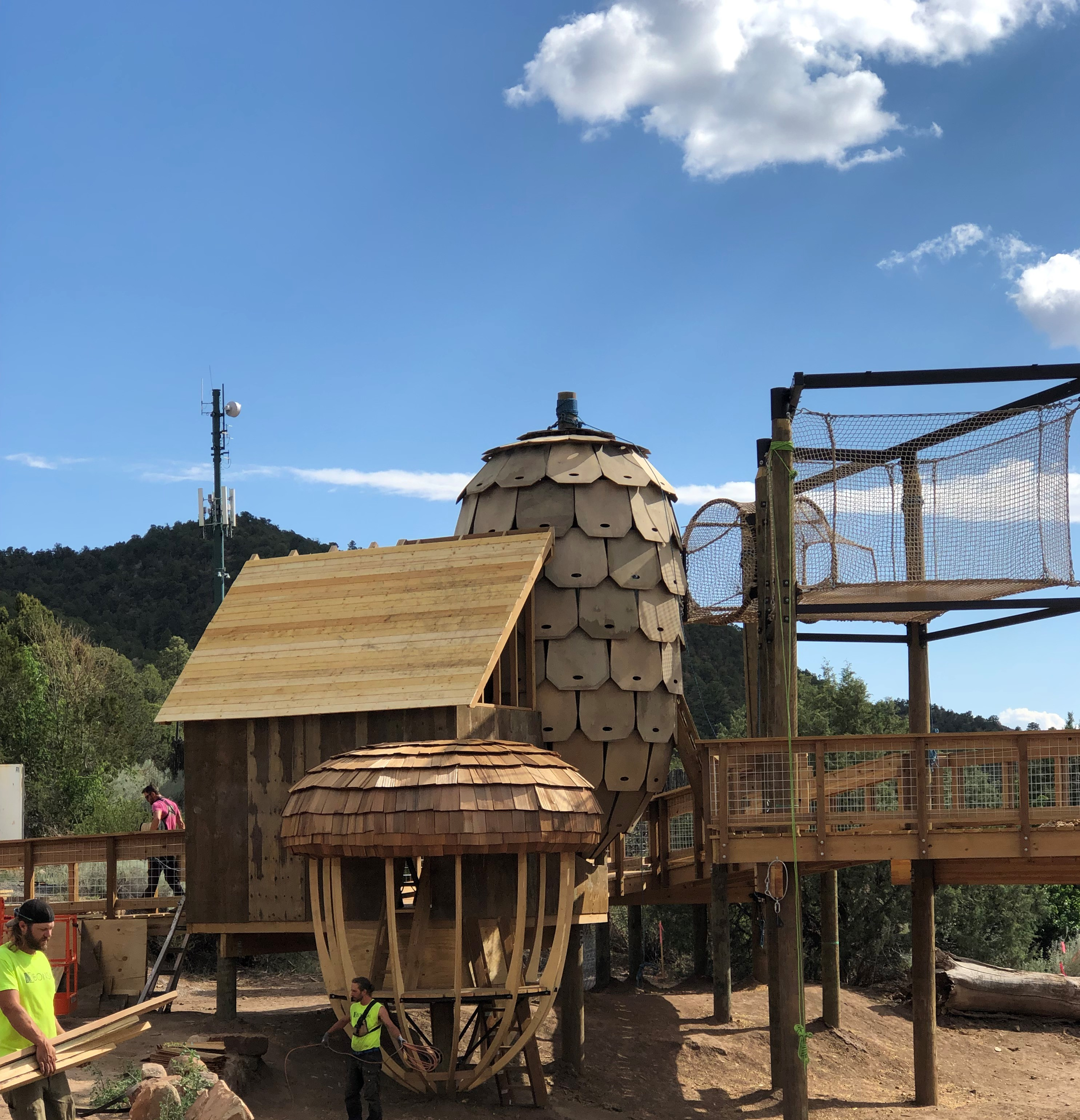 Treehouse under construction
