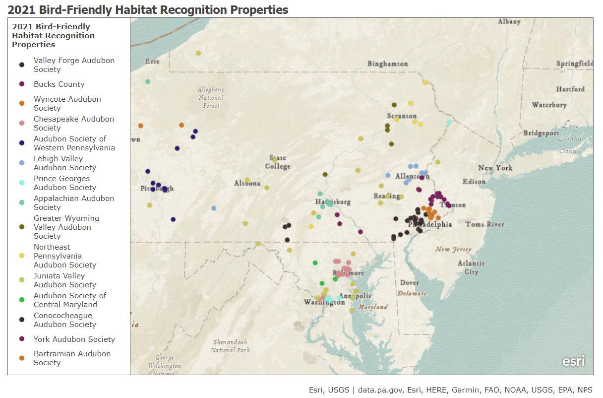 2021 Bird-Friendly Habitat Registrations
