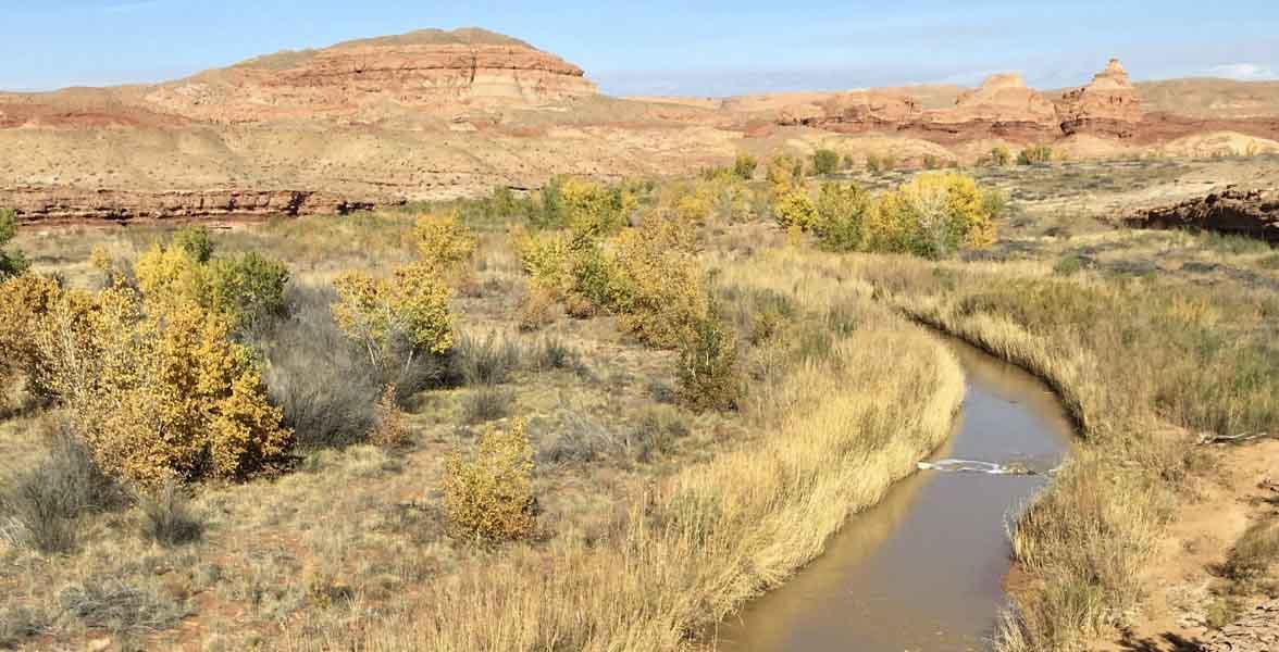 The San Rafael River in Utah.