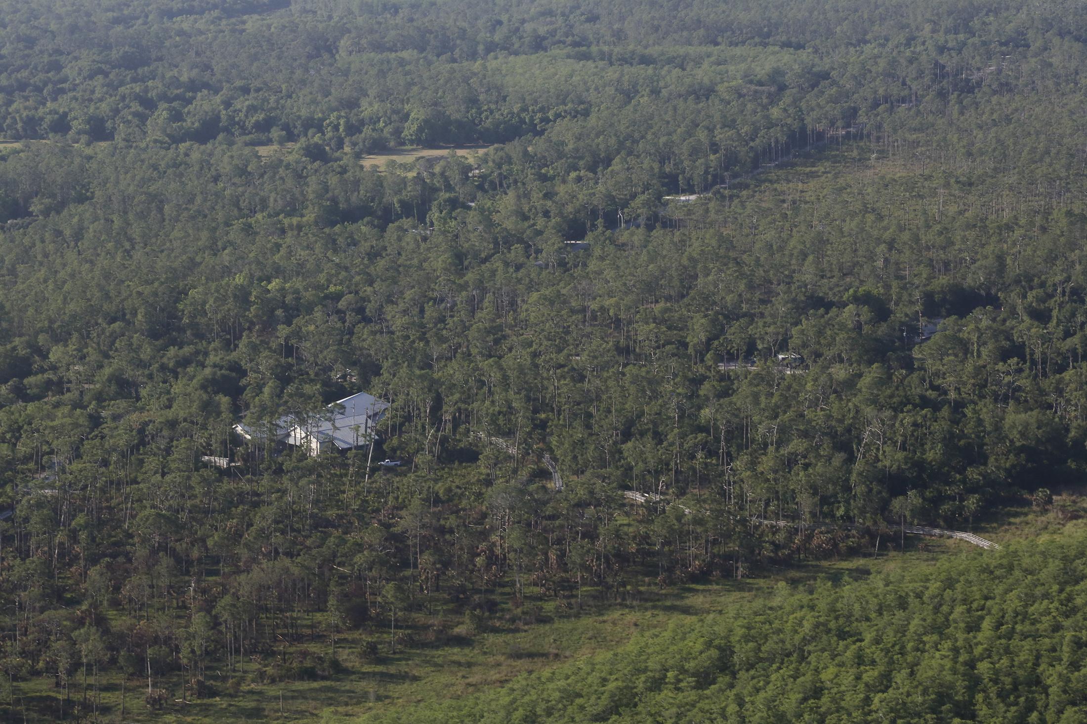Aerial view of Blair Center