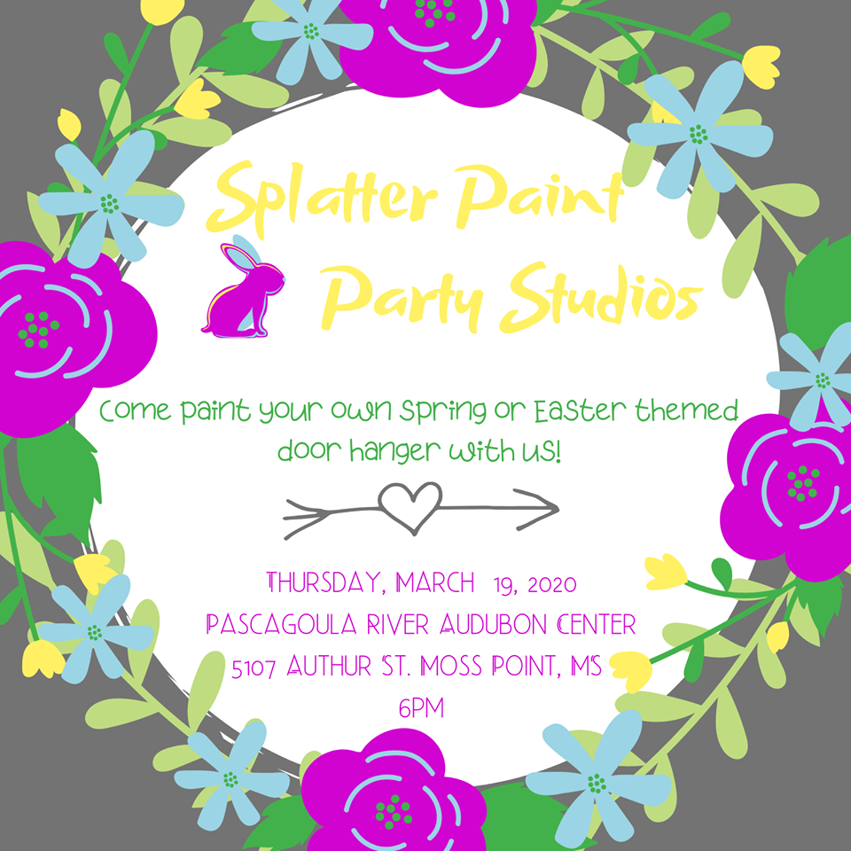 Splatter paint a Spring design of your choice.