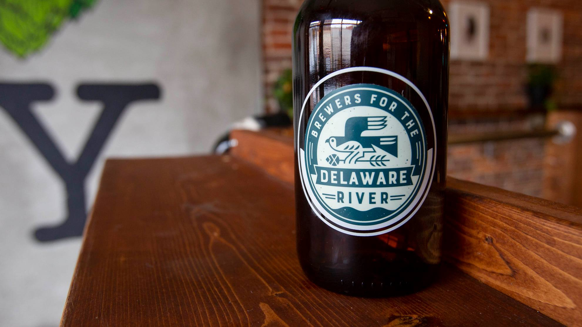 Brewers of the Delaware Watershed growler